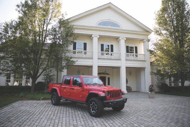 Jeep in front of house